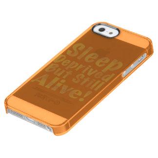 Sommeil déshérité mais encore vivant en jaune coque iPhone clear SE/5/5s