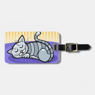 Sommeil Kitty Étiquette À Bagage