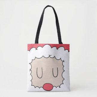 Sommeil mignon Père Noël et son sac fourre-tout à