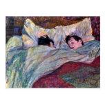 Sommeil par Toulouse-Lautrec Carte Postale