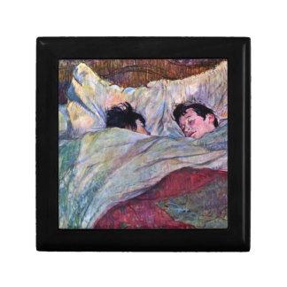 Sommeil par Toulouse-Lautrec Petite Boîte À Bijoux Carrée