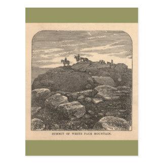 Sommet de la montagne blanche de visage carte postale