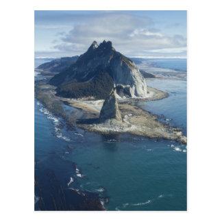 Sommet de phare et de roche à St Elias de cap Carte Postale