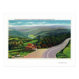 Sommet de Whitcomb de Deerfield River Valley Carte Postale