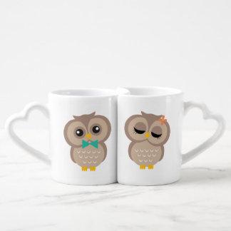 Son et sien couples de hibou mug
