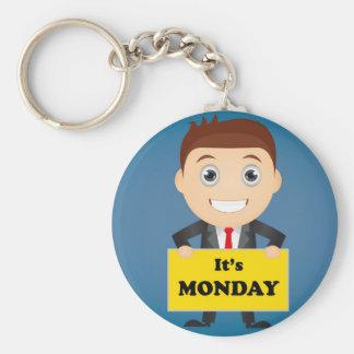 Son lundi porte-clé rond