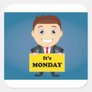 Son lundi sticker carré