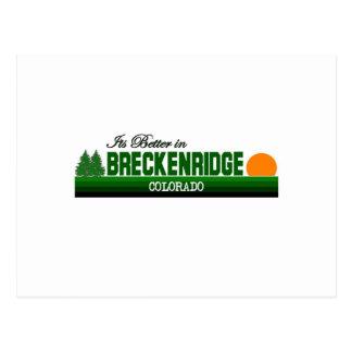 Son meilleur à Breckenridge, le Colorado Carte Postale