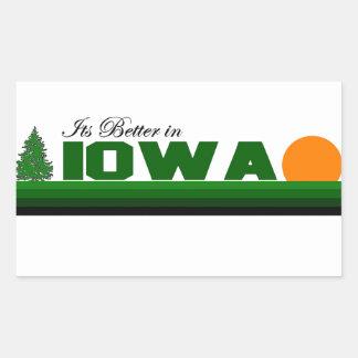 Son meilleur en Iowa Autocollants Rectangulaires