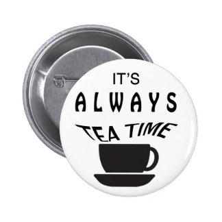 Son toujours temps de thé badge