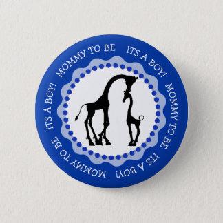 Son un bouton de baby shower de girafe de garçon badges