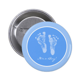 Son un faire-part de naissance d'empreintes de pas badge rond 5 cm