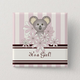 Son un rose animal mignon de koala de baby shower badges