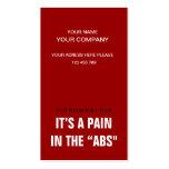 Son une douleur dans l'ABS - conscience Cartes De Visite Personnelles