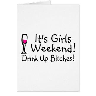 Son week-end de filles carte de vœux