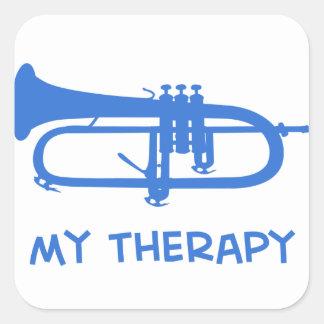 Sonnent de la trompette ma thérapie sticker carré