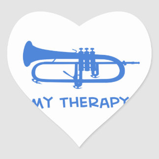 Sonnent de la trompette ma thérapie sticker cœur