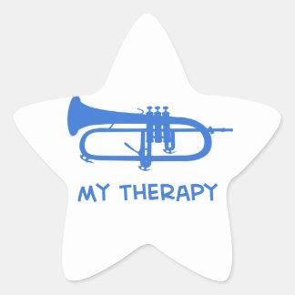 Sonnent de la trompette ma thérapie sticker étoile
