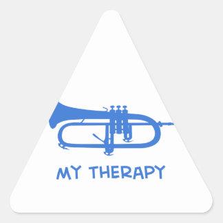 Sonnent de la trompette ma thérapie sticker triangulaire
