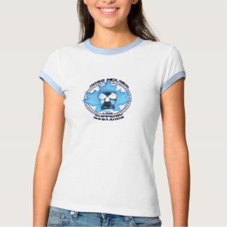Sonnerie bleue T de logo de dames T-shirts