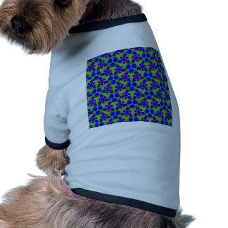 Sonnerie de chien avec la conception bleue de t-shirt ringer pour chien