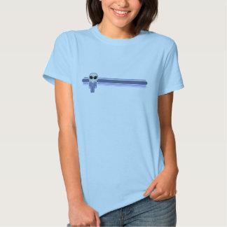 Sonnerie étrangère de rayure bleue t-shirt