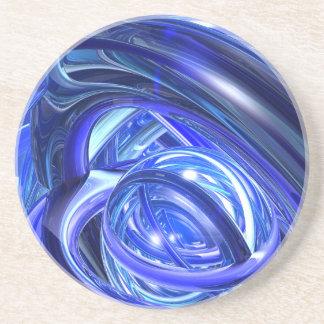 Sonneries bleues dessous de verres