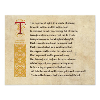 shakespeares sonnet 129 Sonnet 129's wiki: sonnet 129 is one of the 154 sonnets written by william shakespeare the 154 sonnets are typically divided between the fair youth sonnets (1-126) and the dark lady sonnets (127-152.