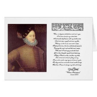Sonnet 29 avec Edouard De Vere Carte De Vœux