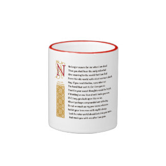 Sonnet 71 (LXXI) de Shakespeare sur le parchemin Tasse À Café