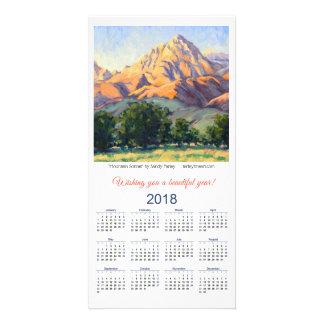 Sonnet de montagne de carte de 2018 calendriers