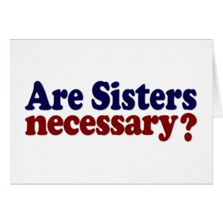 Sont les soeurs nécessaires carte de vœux