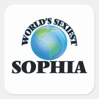 Sophia le plus sexy du monde stickers carrés