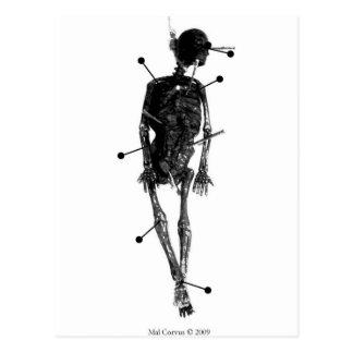 Sorcellerie : Poupée squelettique de sorcière Cartes Postales
