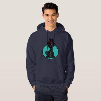 Sorcière de chat noir veste à capuche