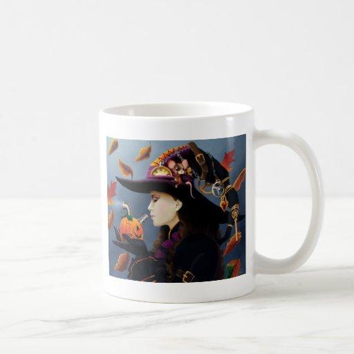 Sorcière de citrouille de Steampunk Mug