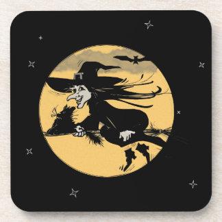 Sorcière de Halloween Dessous-de-verre