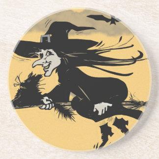 Sorcière de Halloween Dessous De Verre En Grès