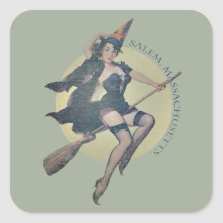 Sorcière de Salem Sticker Carré