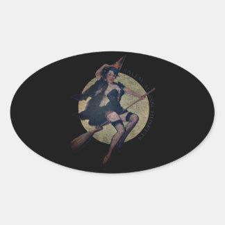 Sorcière de Salem Sticker Ovale