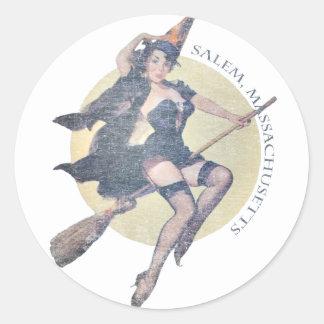 Sorcière de Salem Sticker Rond