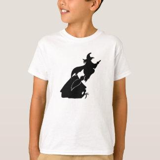 Sorcière de vol au-dessus de silhouette de Chambre T-shirt
