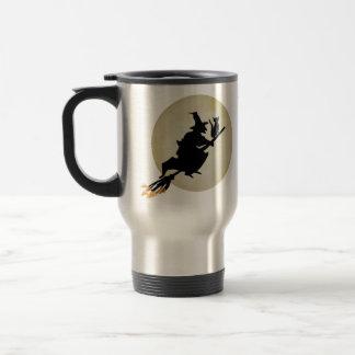 Sorcière et chat mug de voyage