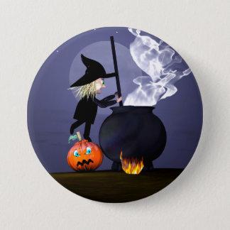 Sorcière et chaudron de Halloween Pin's