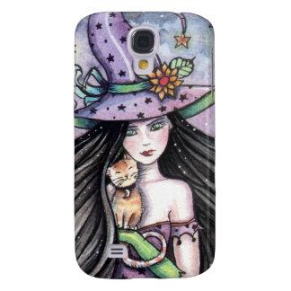 Sorcière et coque iphone orange de chat tigré coque galaxy s4