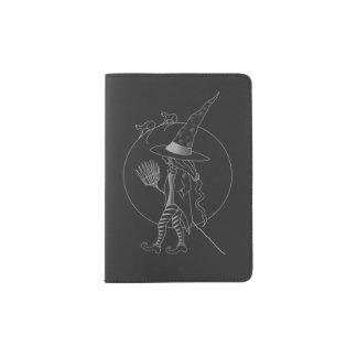 Sorcière mignonne de Halloween Protège-passeport