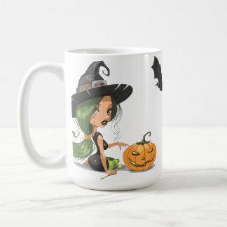 Sorcière mignonne Halloween Mug