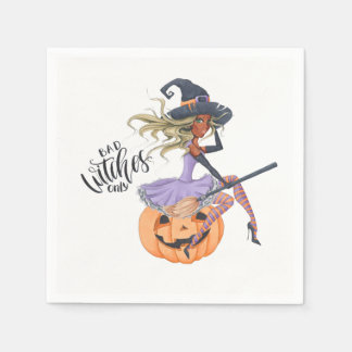 Sorcière pourpre Halloween Serviettes En Papier