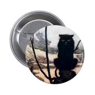 Sorcière sous la forme de chat badge