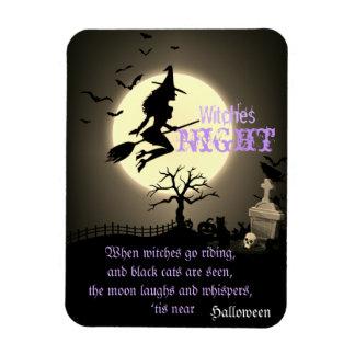 Sorcières nuit, Halloween Magnet Flexible